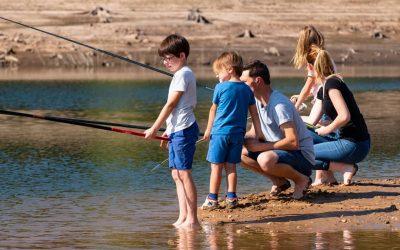 animation pêche en famille sur la retenue du Tordre