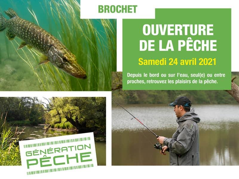 Visuel de la campagne de communication pour l'ouverture de la pêche des carnassiers