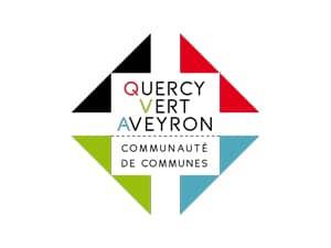 Logo de la communauté de communes Quercy Vert Aveyron