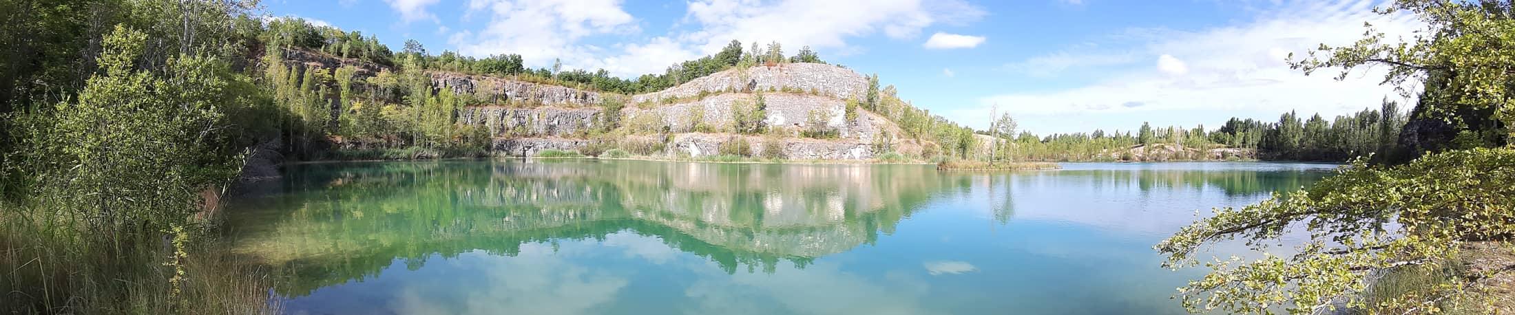 Vue panoramique du lac vert