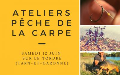 Ateliers gratuits pêche de la carpe samedi 12 juin