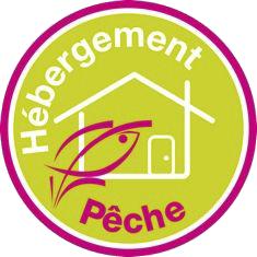 Logo permettant l'identification des hébergements pêche.