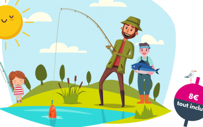 Le calendrier des animations de découverte de la pêche en famille